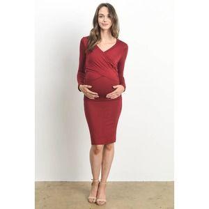 Cross Front Maternity & Nursing Dress
